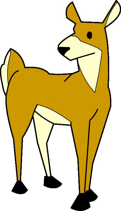 Illustrated deer