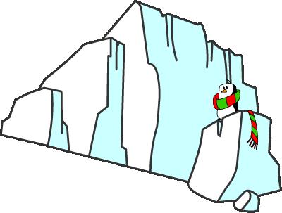Illustrated glacier