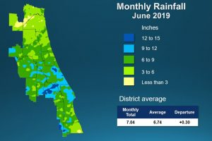 Map of June 2019 rainfall