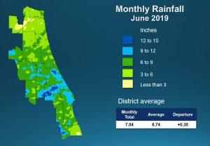 Map of June 2019 rainfall