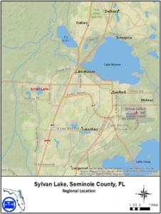 Map of Sylvan Lake, Seminole County