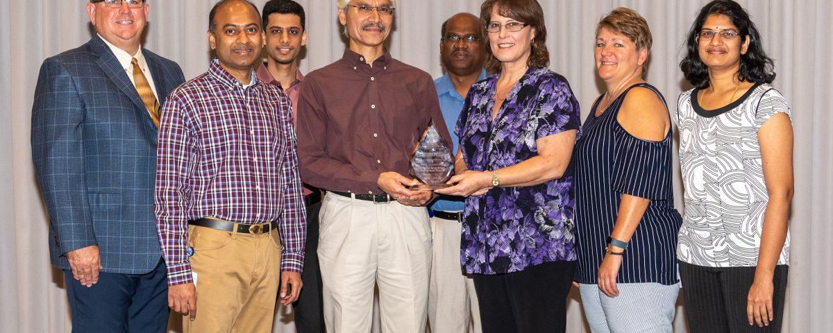 District IT department receiving an award