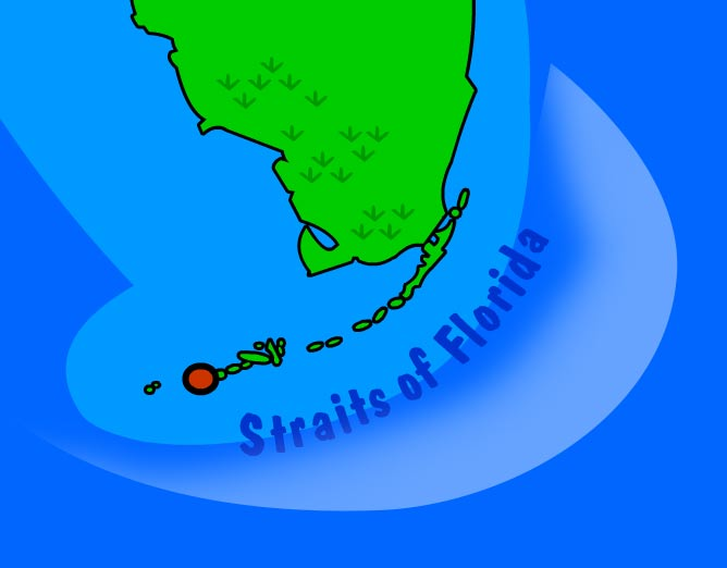 Illustration of Straits of Florida