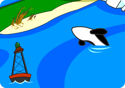 Illustration of the ocean