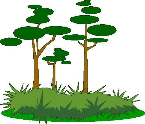Illustrated swamp foliage