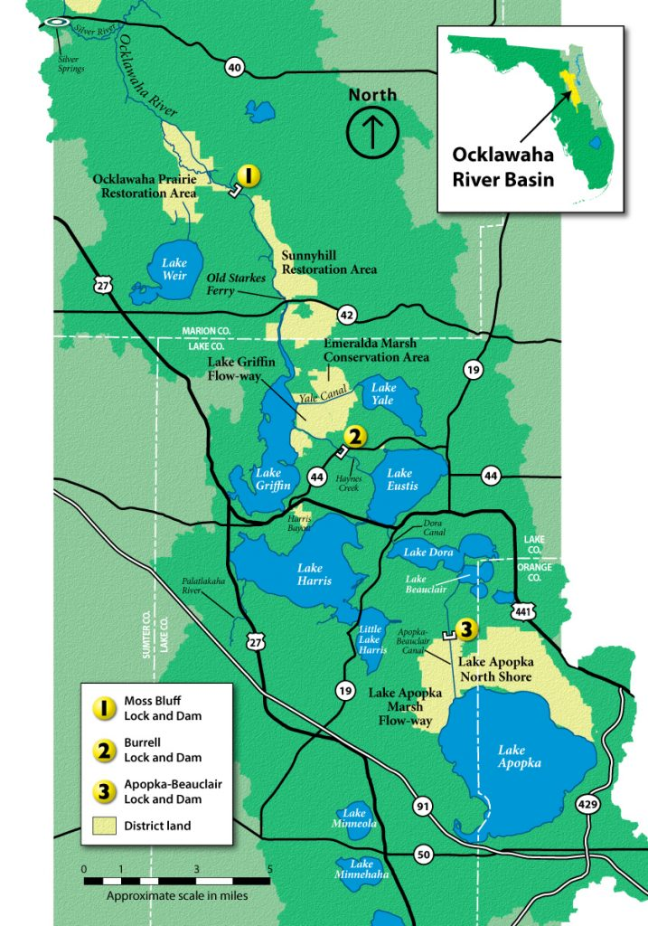 Upper Ocklawaha River map