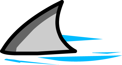 Illustrated shark fin