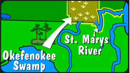 Illustration of St. Marys River