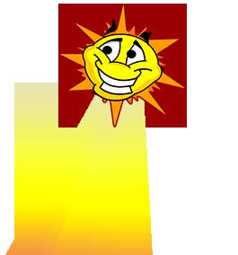Illustration of sun rays