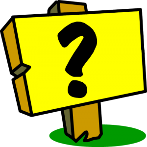 Sign with a question mark
