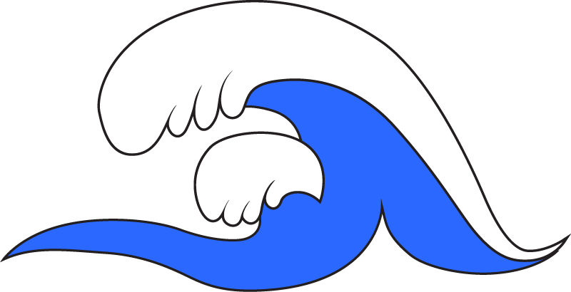 Illustrated wave