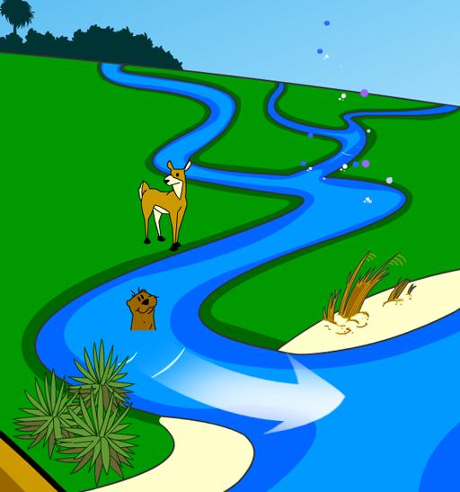 Illustration of a river