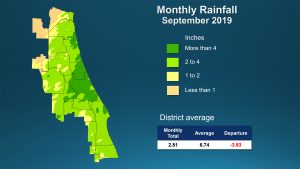 September rainfall map
