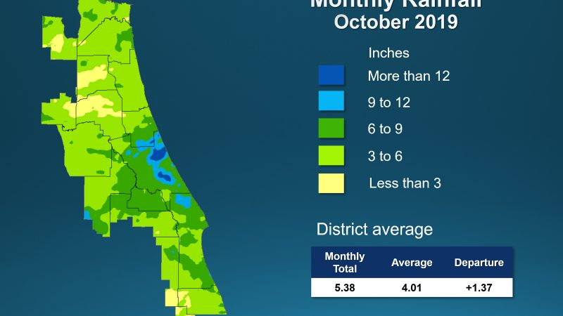 Monthly rainfall map for October