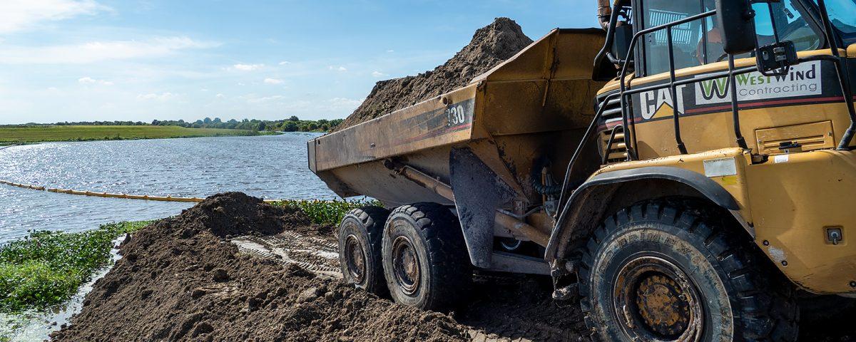 Large excavator truck