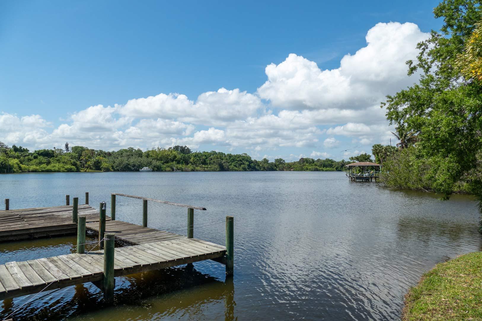 Crane Creek boat dock