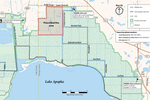 Prescribed fire map of Lake Apopka North Shore