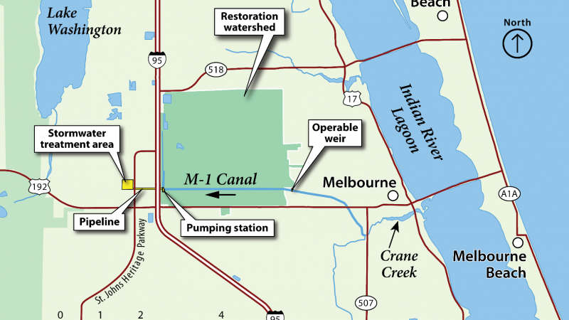 Map of M-1 Canal