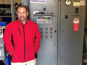 David Levin, in the control room at the heart of the system to manage water use at the golf course