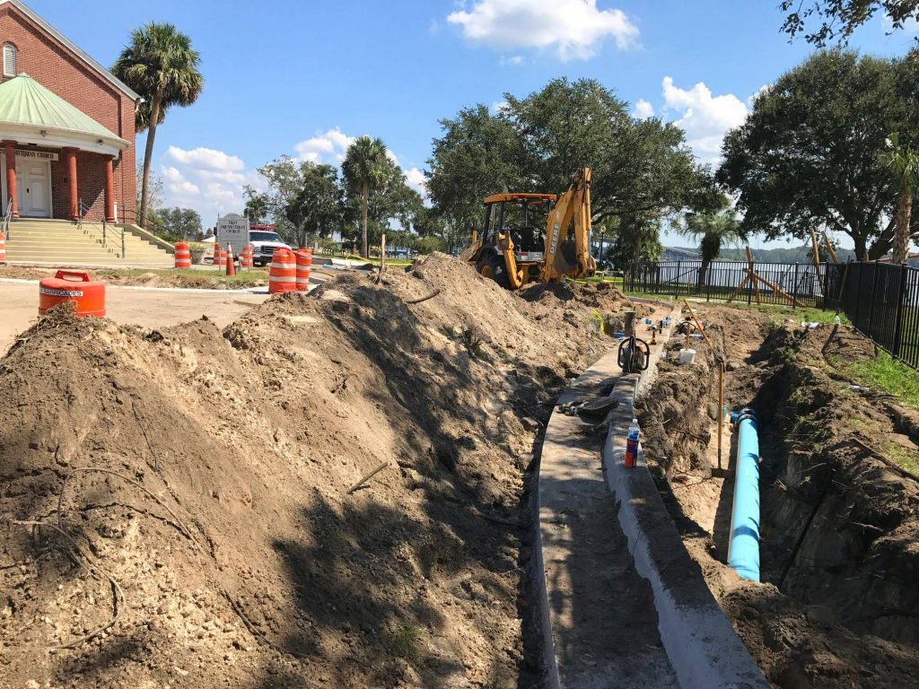 Replacing water pipes in Palatka enabled the city to also resurface its affected streets.
