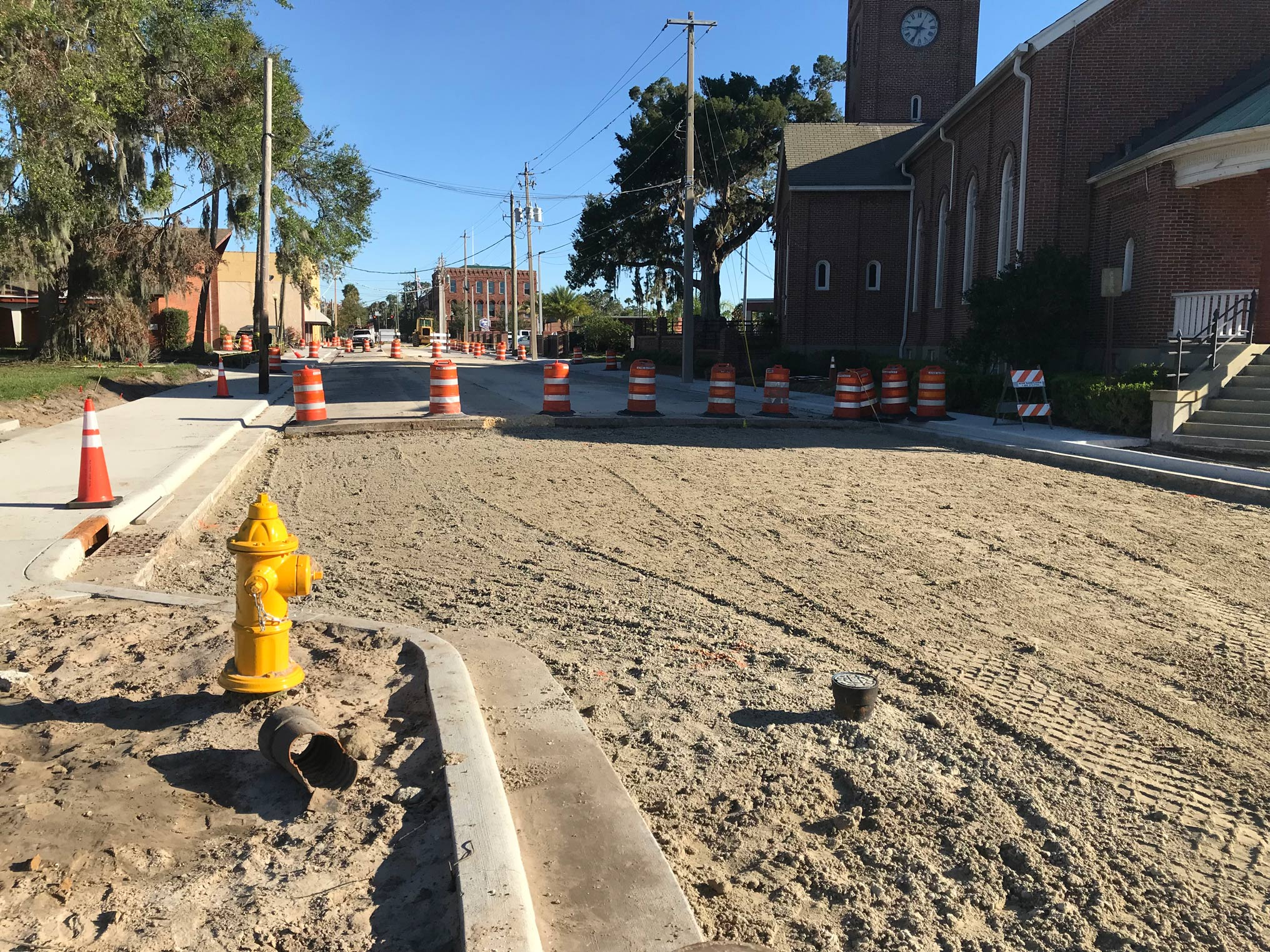 District REDI funds enabled the city of Palatka to replace water pipes downtown.