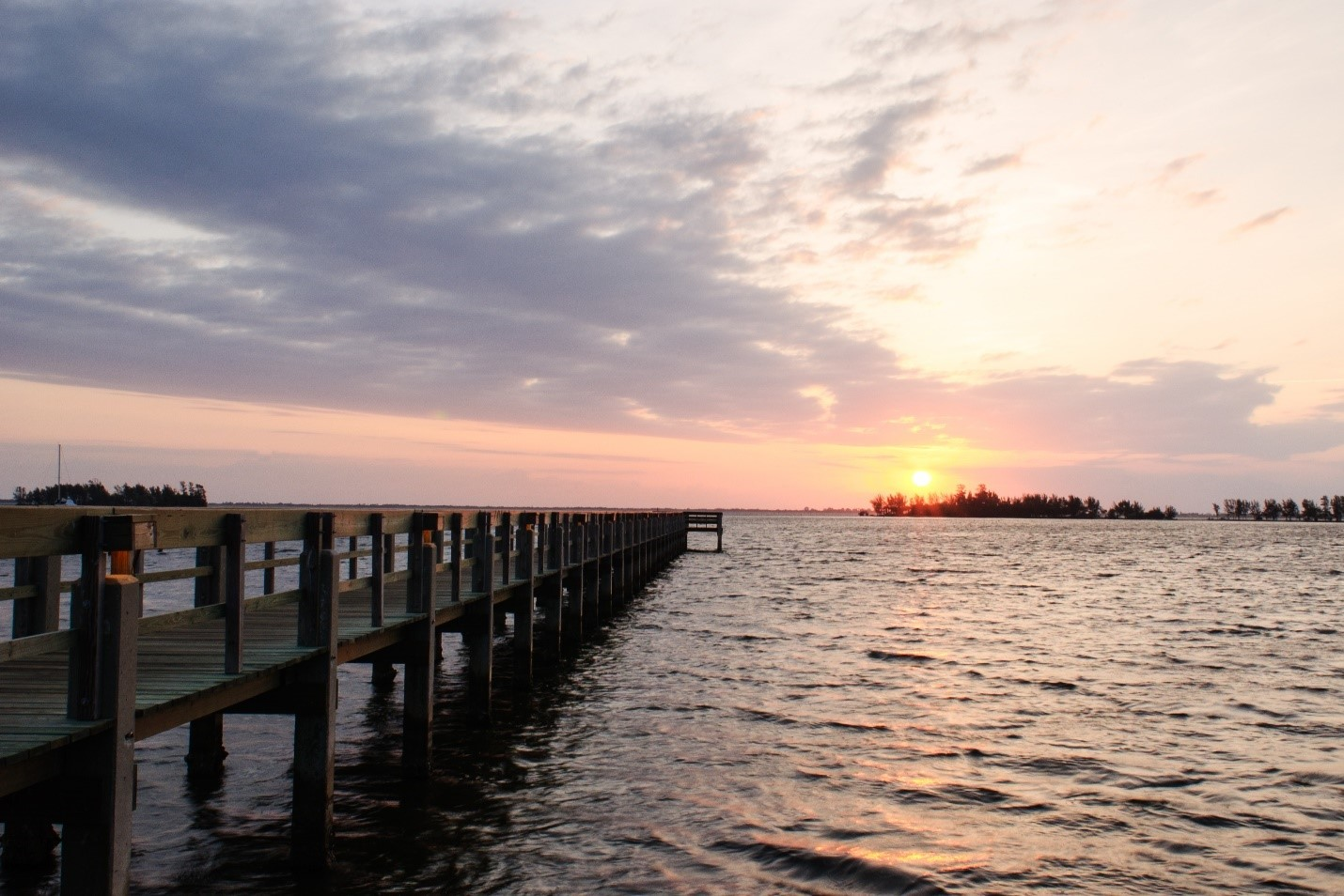 The sun rises over the Indian River Lagoon.