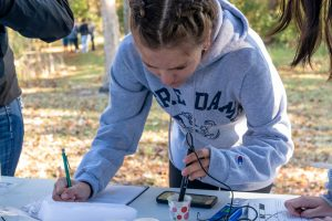 students studies water quality sampling