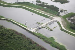 Aerial view of the structure in the Upper St. Johns River Basin