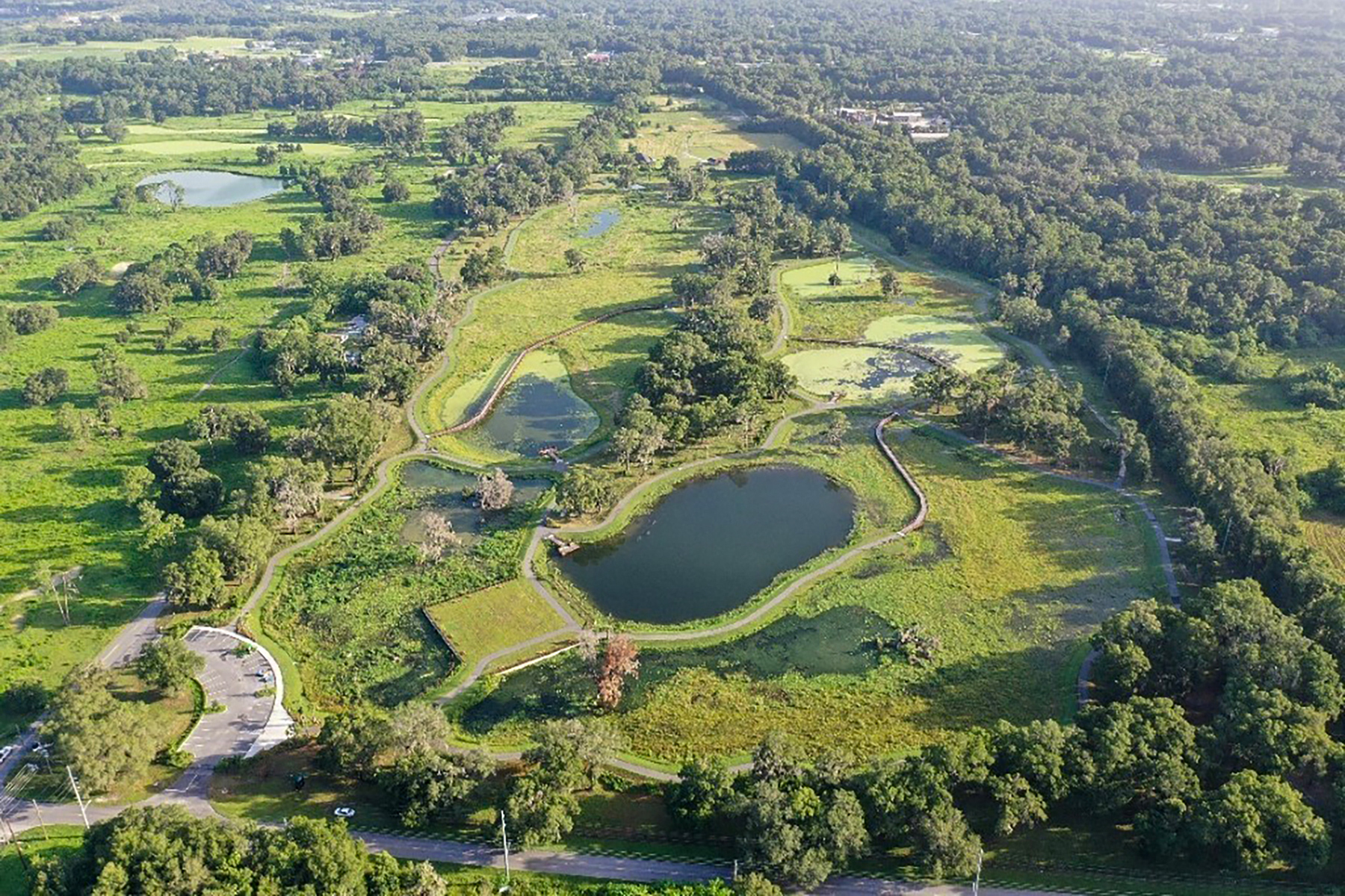 Aerial view of the Ocala Wetland Recharge Park