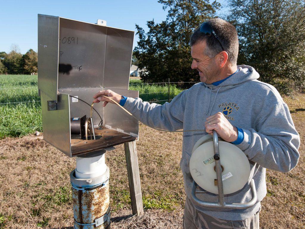 Rick Reed testing equipment