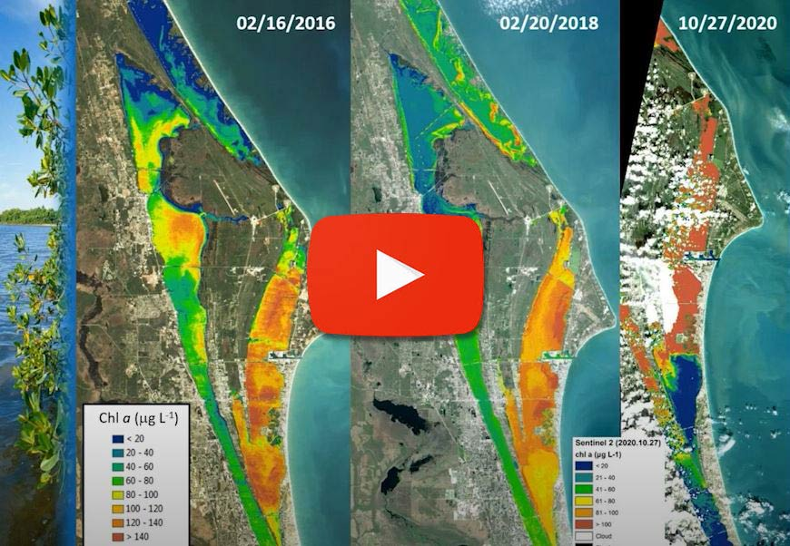 Thumbnail of a graduated map of the Indian River lagoon