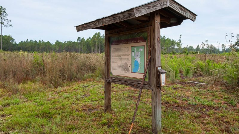Newnans Lake Conservation Area North Tract kiosk
