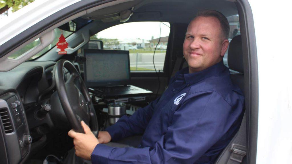 Matt McMullin leads Clay County Utility Authority's leak detection program.