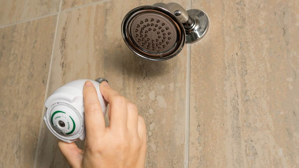 installation of a water-efficient shower head