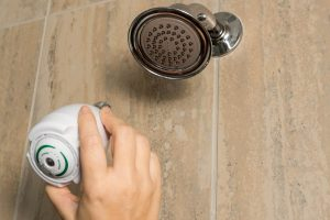 installation of a water-efficient shower head