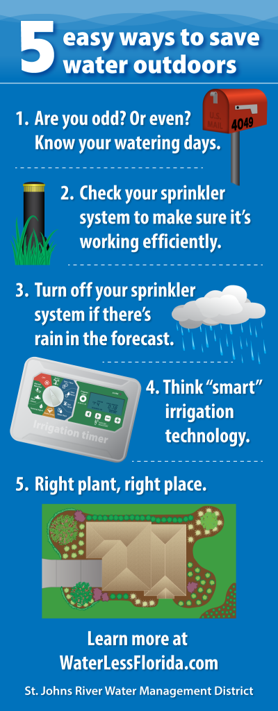 5 easy ways to save water outdoors infographic
