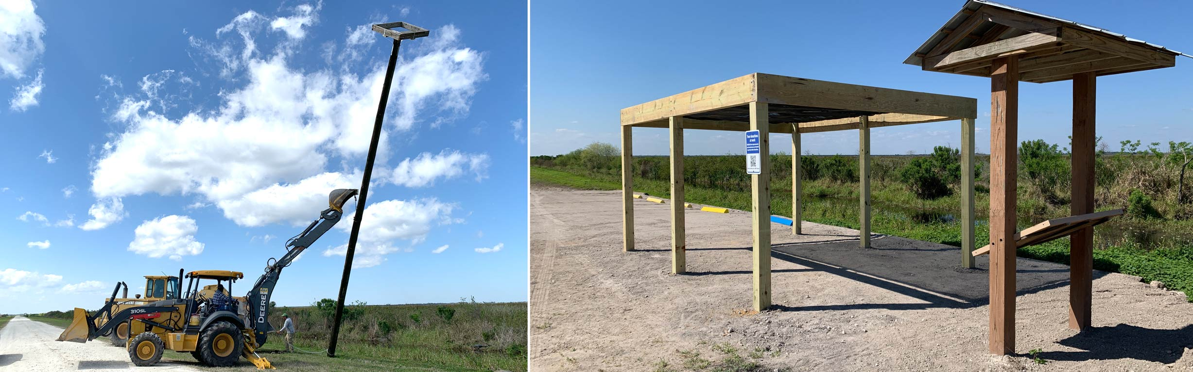 Construction of osprey platform and picnic parking area