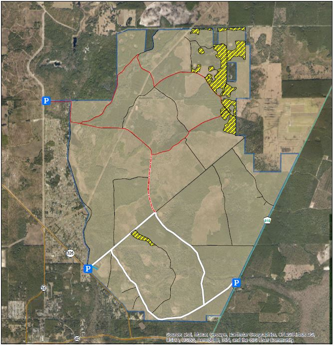 Map of Silver Springs