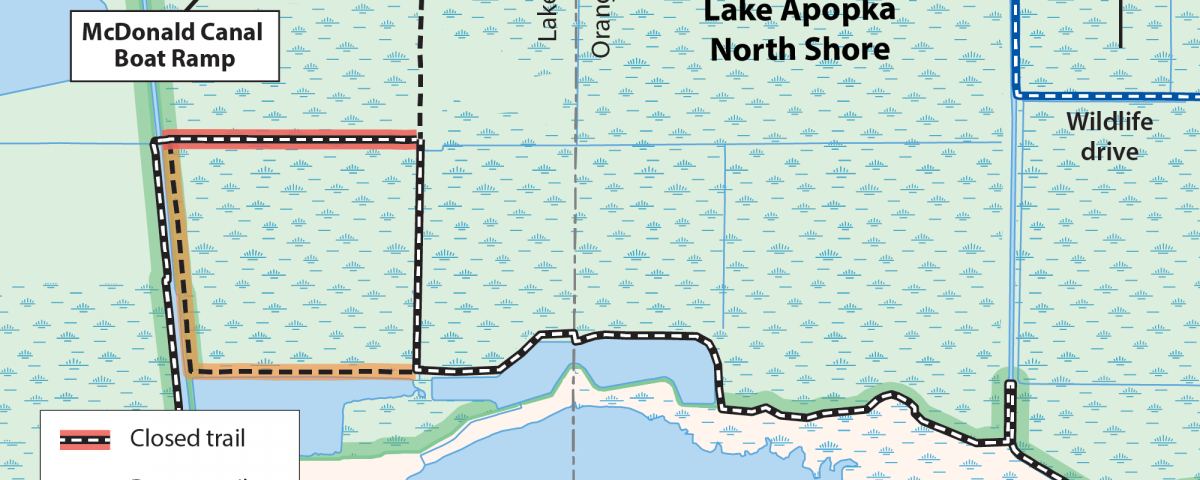 Map of Lake Apopka North Shore with