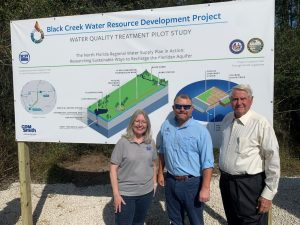 District staff posing for a picture at the today's kickoff of the Black Creek Water Quality Treatability Pilot Study