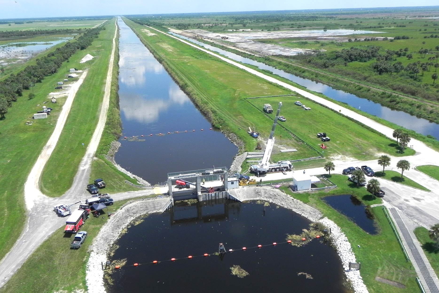 Aerial view of the c-54 canal structure