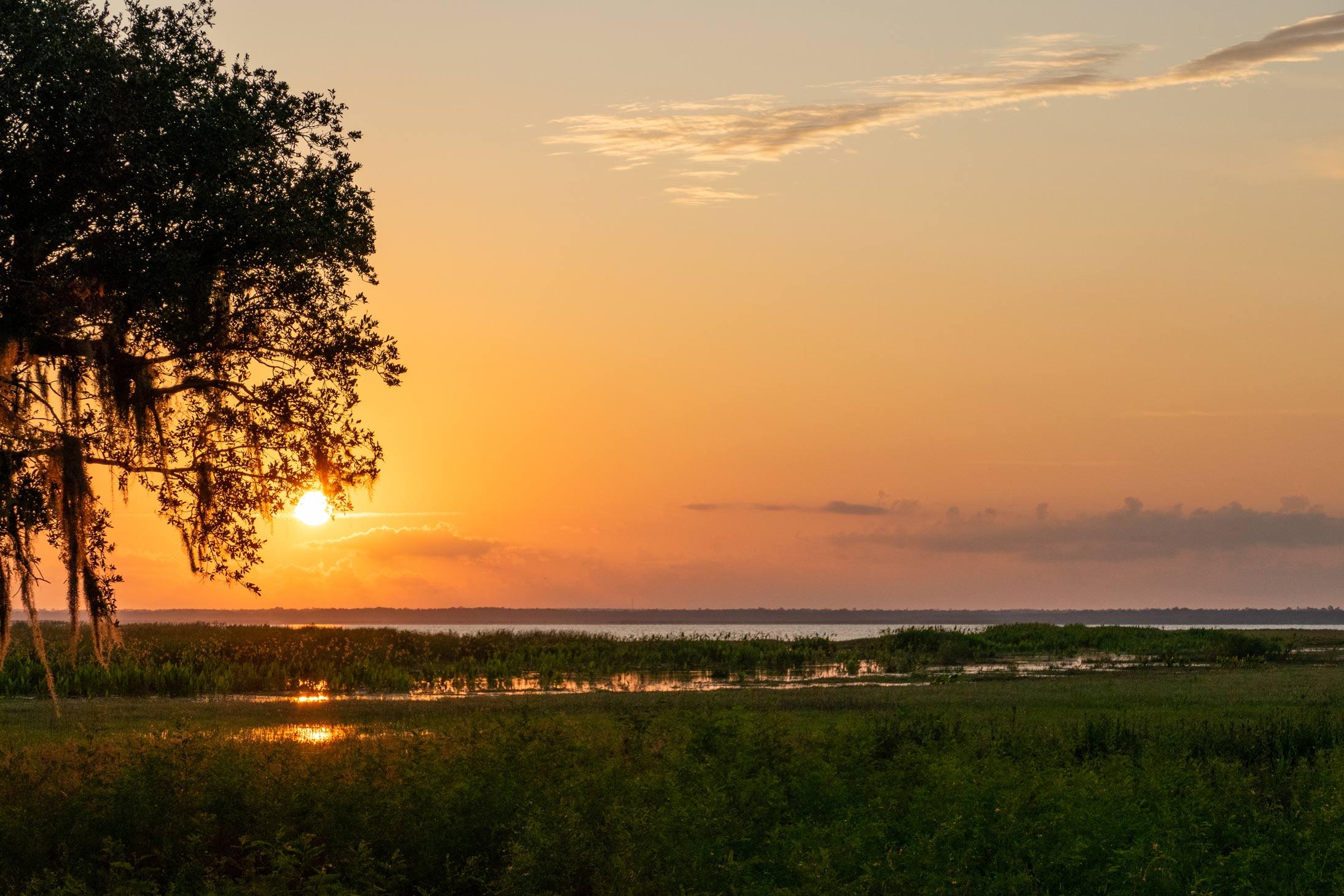 Sunset at Lake Jesup