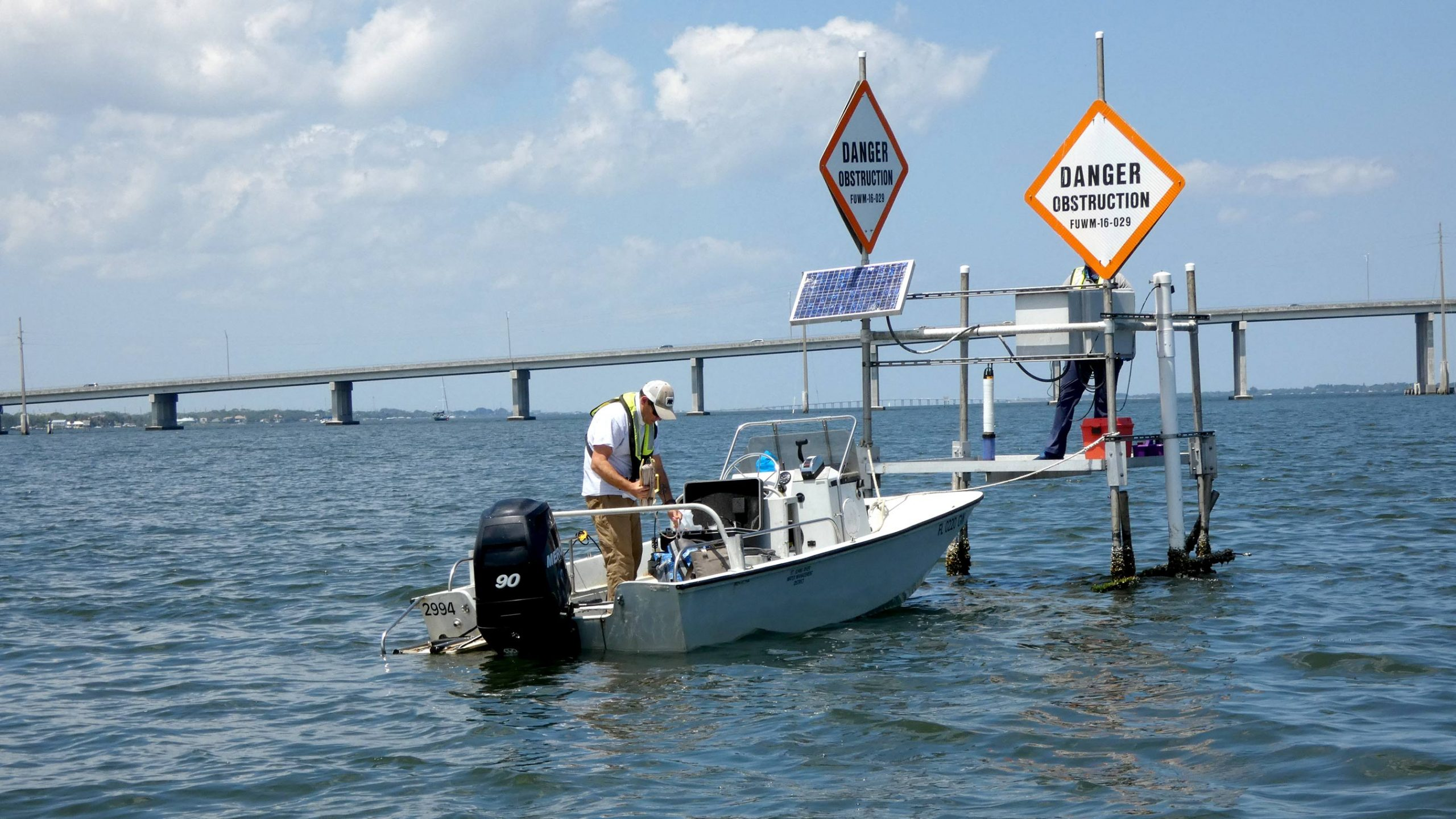 A water quality monitoring site in the Indian River Lagoon