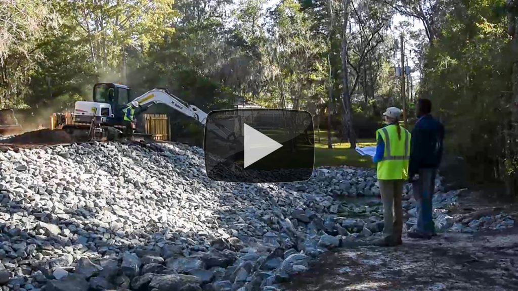 Video of construction work at a cost-share project