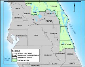 Broward, Indian River, Okeechobee area map