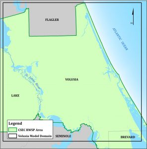 Map of Volusia County area
