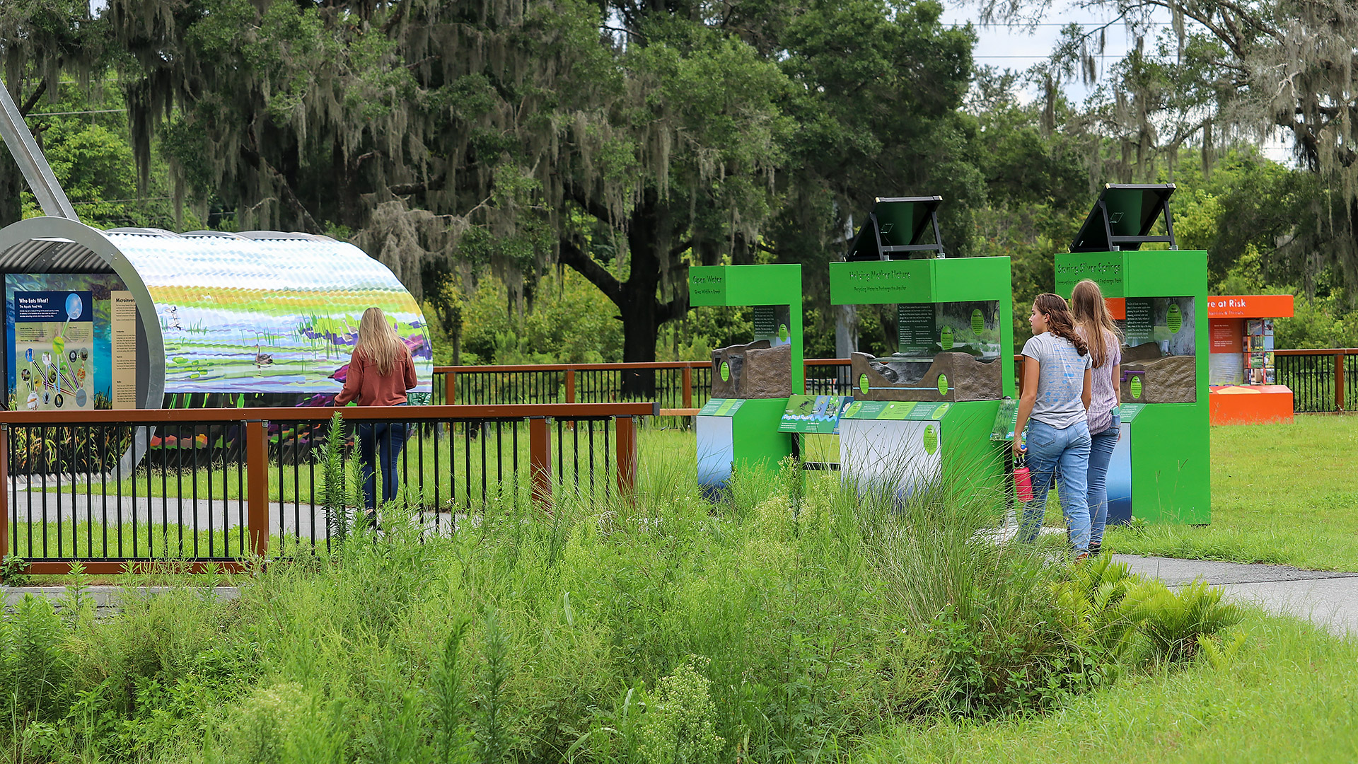 People visiting the Ocala Wetlands Recharge Park