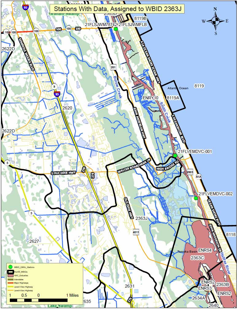 Figure 1. Florida Department of Environmental Protection sampling stations.